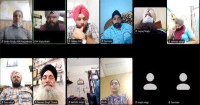 "KVK, Kapurthala Organizes Webinar on ""DIRECT SEEDED RICE"""