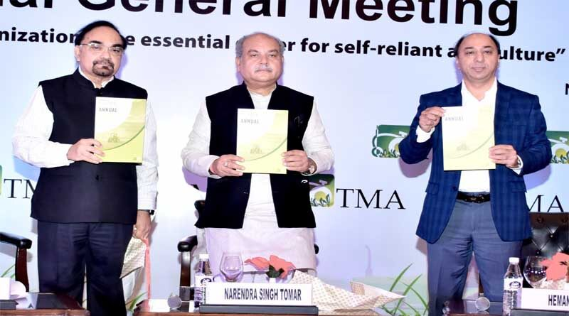 Union Agriculture Minister lauds Tractors Industry for their contribution to Make in India at TMA annual general meet