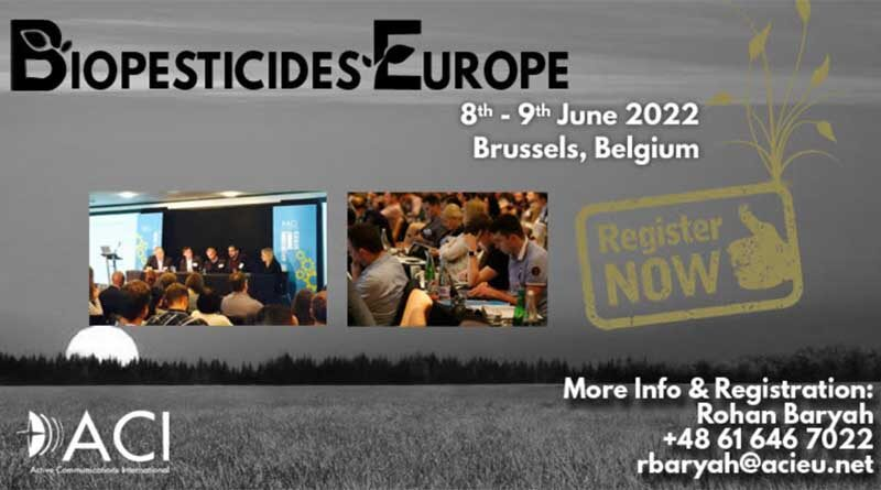 ACI's Biopesticides Europe Conference in June 2022 in Brussels, Belgium