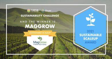 MagGrow Has Won The Thrive Bayer Sustainability Award 2021